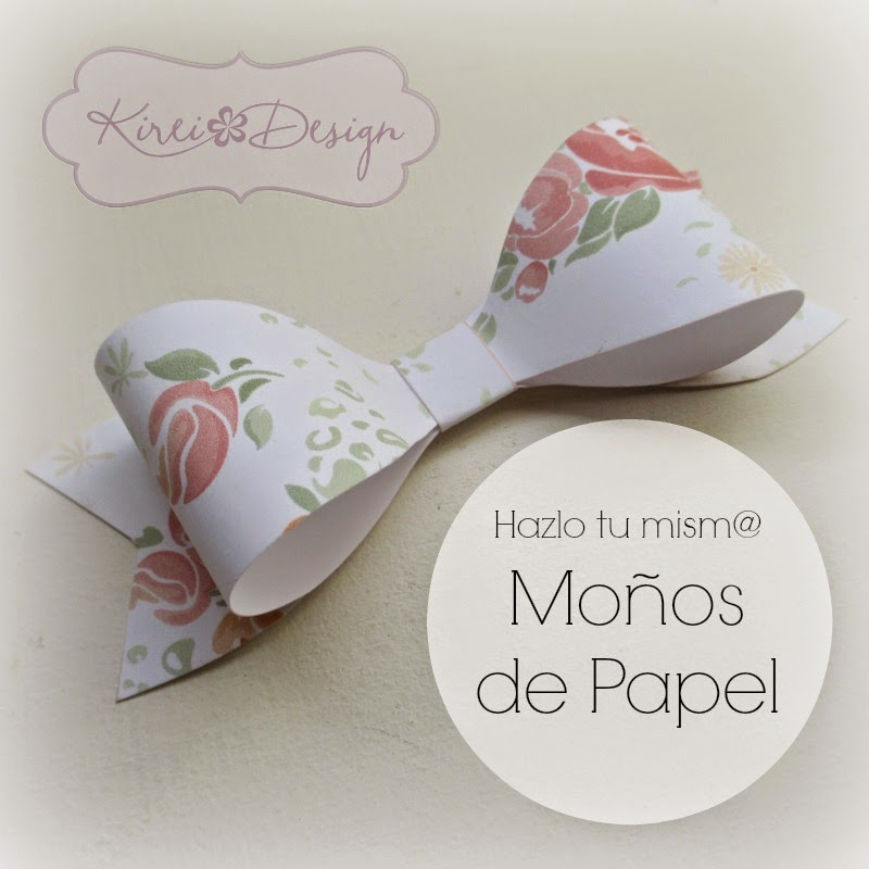 Moños papel