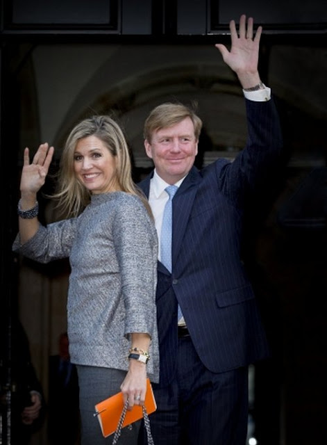 Queen Maxima And King Willem-Alexander Attended A Symposium