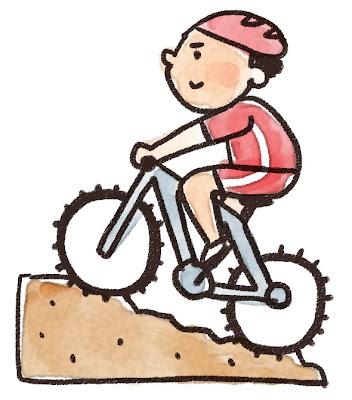 マウンテンバイクの選手のイラスト(スポーツ)