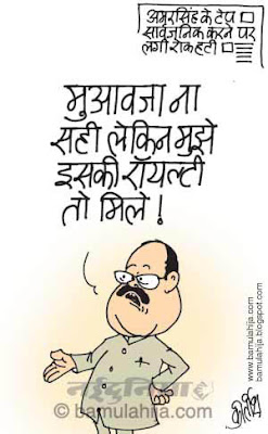 amarsingh cartoon, corruption cartoon, corruption in india, indian political cartoon