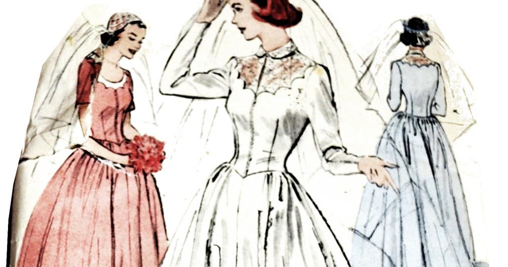 wedding dresses cold climates: Vogue Wedding Dress Patterns Vintage