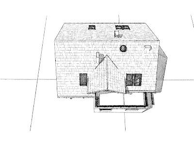 Architekt Rzeszow. Rzut dachu. Dom jednorodzinny z poddaszem użytkowym.