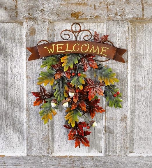 Thanksgiving Fall Door Decoration Wreath