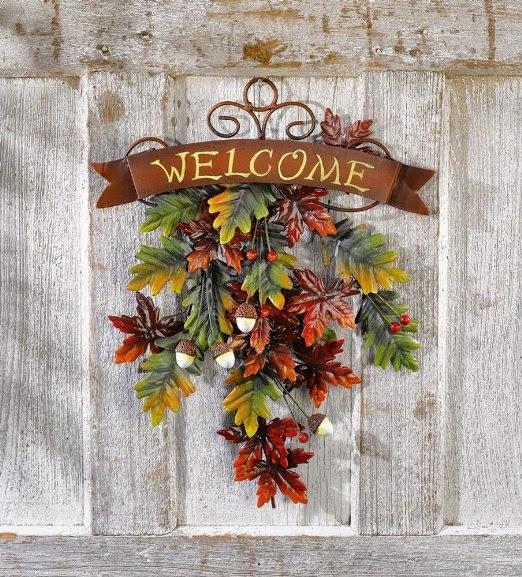 Thanksgiving Fall Door Decoration Wreath