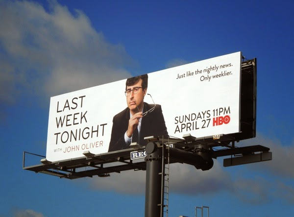 Last Week Tonight with John Oliver HBO billboard