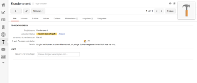 Projektansicht im CRM-Tool insightly