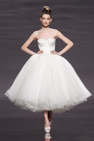 vestido corto novia rosa clarà