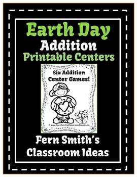 Earth Day - Addition Printable Center Games For 1.OA.6 and 2.OA.2