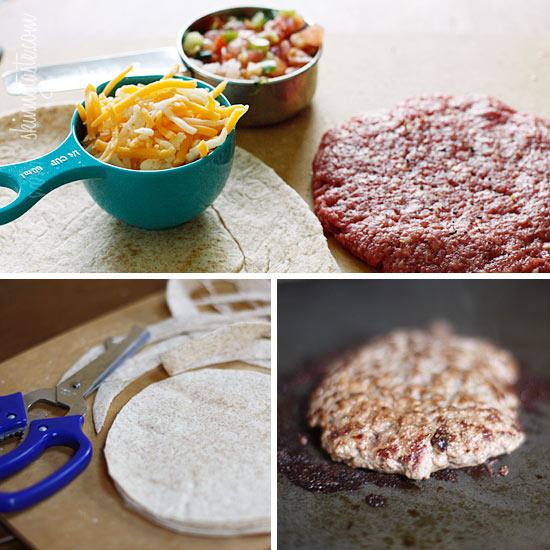 Skinny Buffalo Burger Quesadilla | Skinnytaste