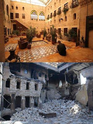 gambar keadaan syria dahulu dan sekarang, apa terjadi di syria, kekejaman syiah di syria, bashar asad,