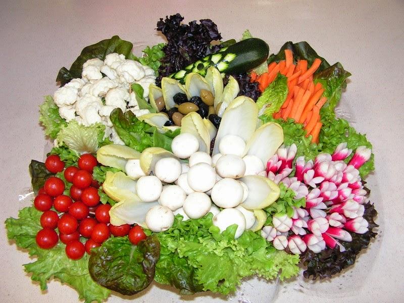 plateau de légumes dégustation