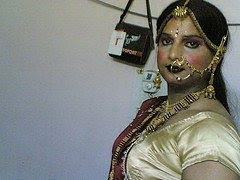 Indian Crossdressers - Men in Drag: Crossdresser with full ornament