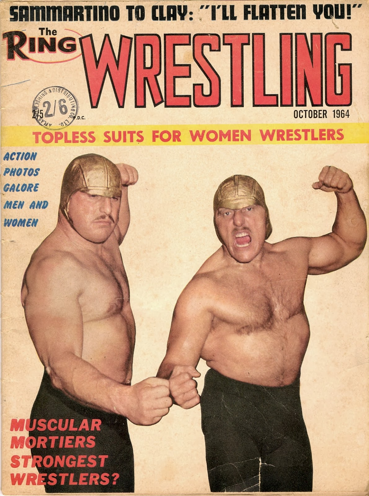 Old wrestling magazine tag team