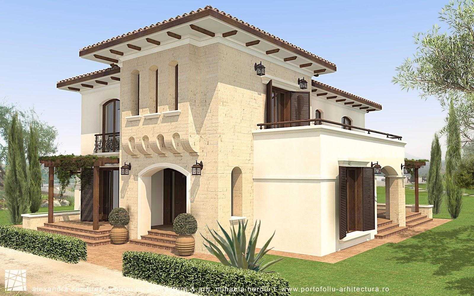 Casa mediteraneeana stil spaniol in constanta for Arhitectura case cu mansarda