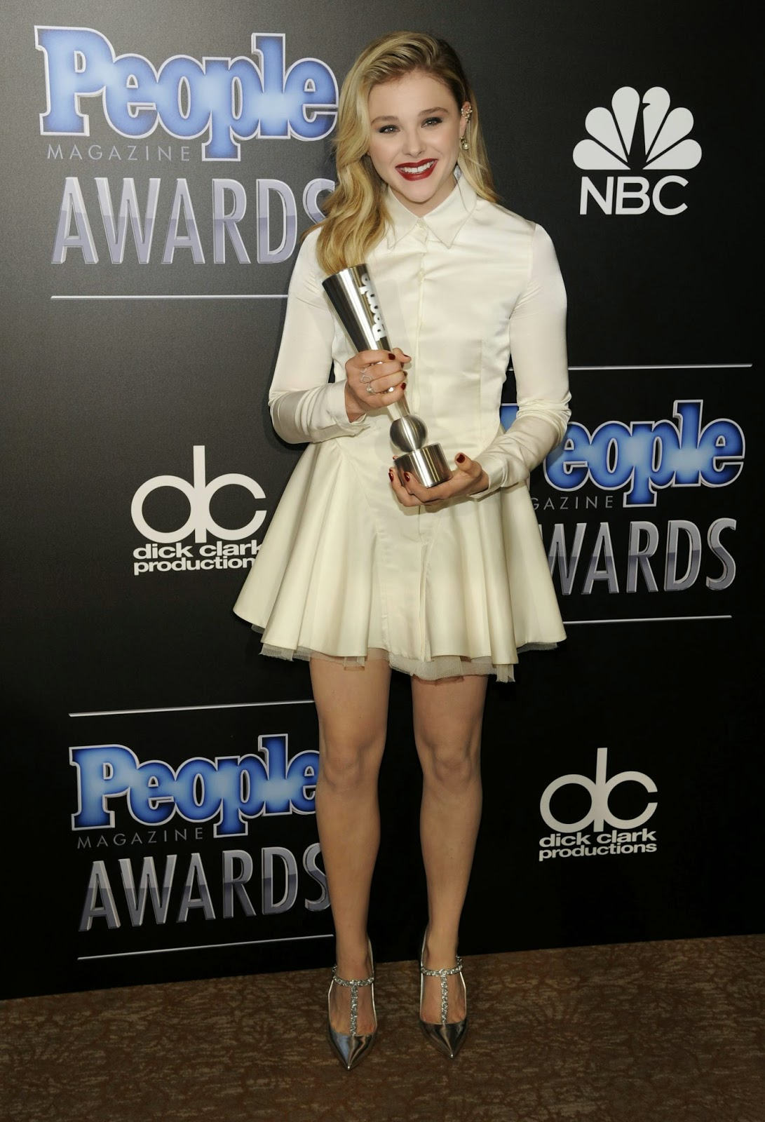 Chloe Moretz looks stunning in a Dior dress at the 2014 People Magazine Awards