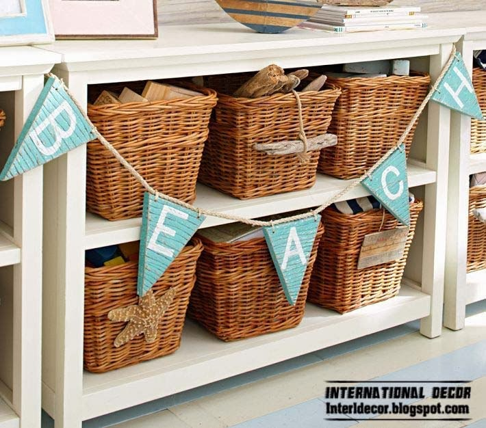 wicker storage baskets for childrens room marine theme