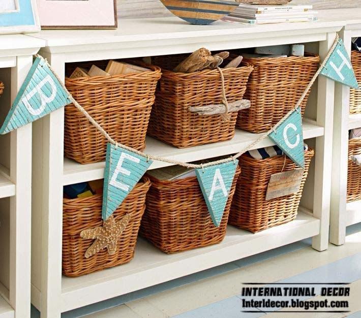 wicker storage baskets for childrens room marine theme