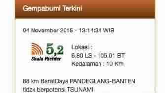 Gempa yang Dirasakan di Jakarta Tidak Terjadi di Lempeng Megathrust