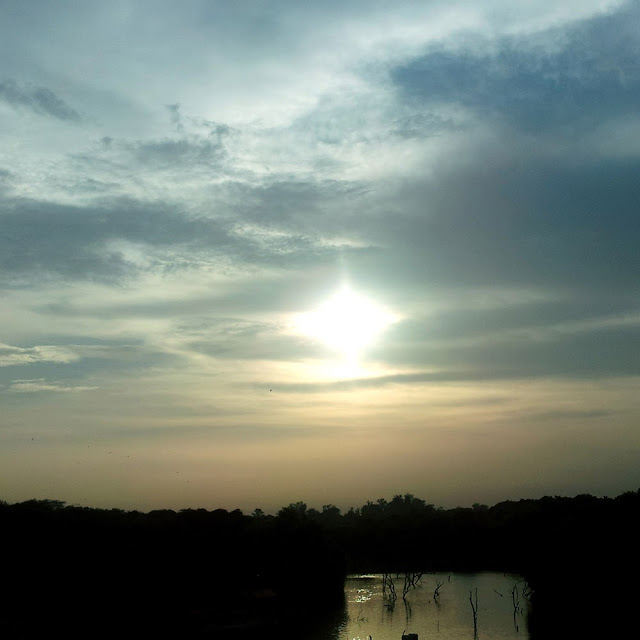 Sunset at Hauz Khas Village