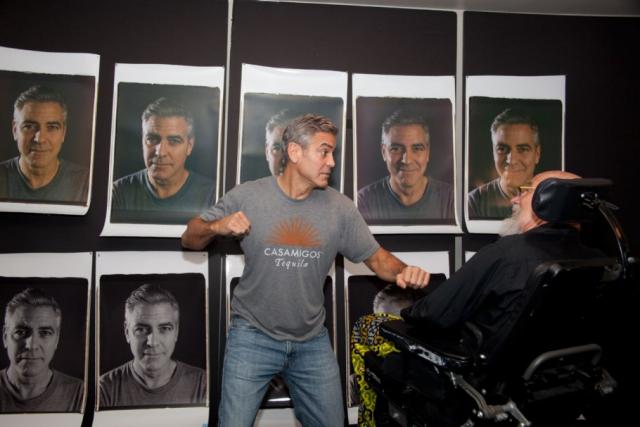 George Clooney sin maquillaje