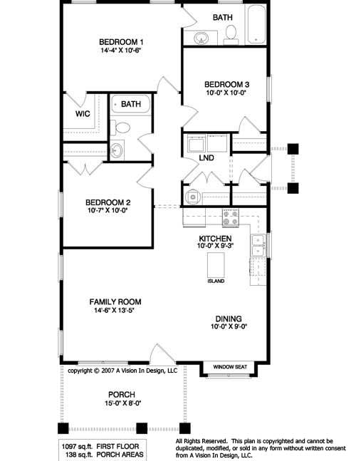 Small house plans 10 for Small cabin floorplans