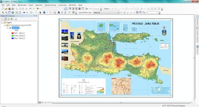 Tampilan Peta Di ArcMap