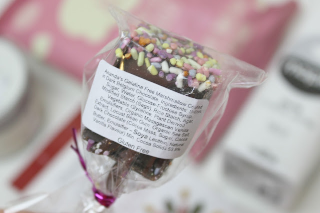 A vegan friendly chocolate marshmallow lolly created by Ananda Foods