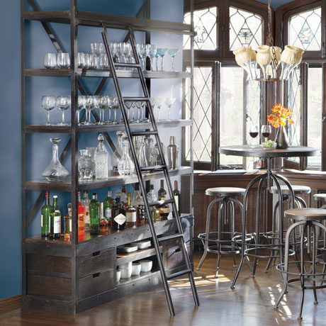 Another Restoration Hardware option he found is their French Library  Shelving, which is a reproduction of a mid-1940s eastern