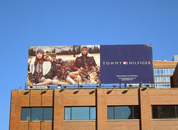 Tommy Hilfiger Fall 2014 collection billboard NYC