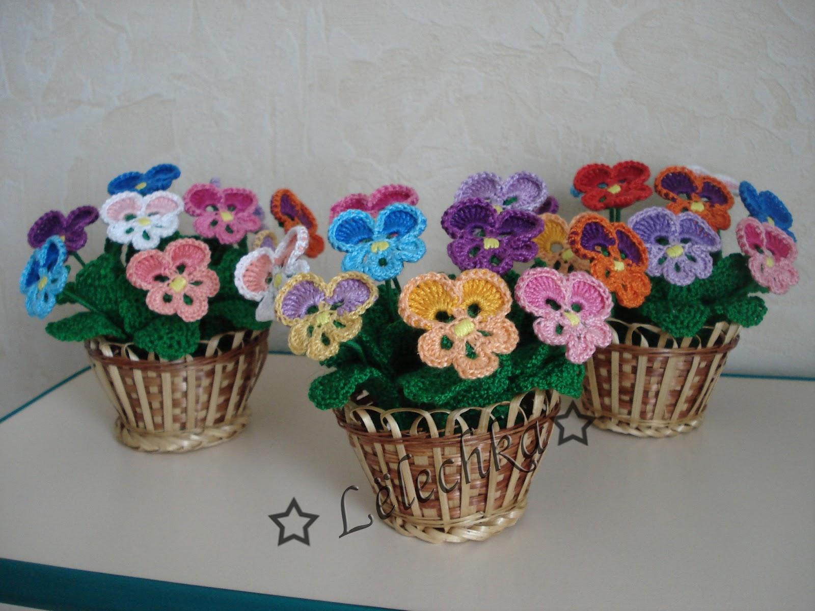 Вязаные цветы крючком схемы для начинающих - вязание 12