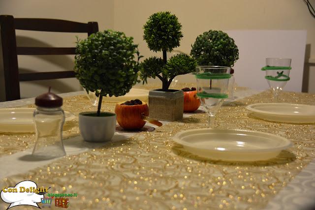 שולחן לחג האילנות Tree holiday table