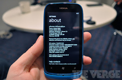 Windows Phone Tango minimum hardware limitations outlined