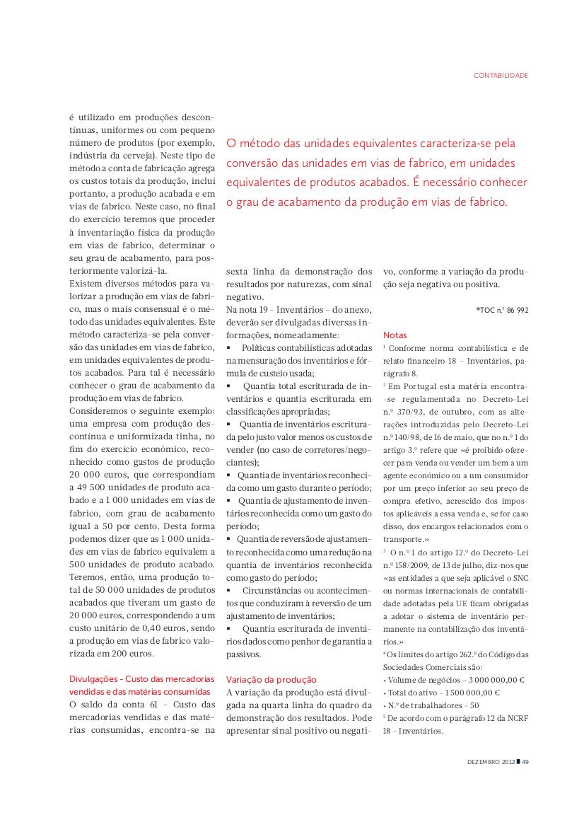 Artigo contabilidade
