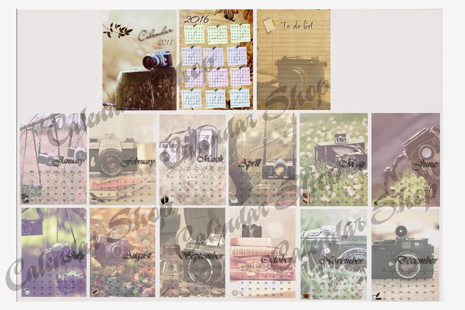 những mẫu thiết kế, in lịch để bàn, lịch cá nhân, số lượng ít, độc đáo, lạ mắt, độc quyền, duy nhất, 2015