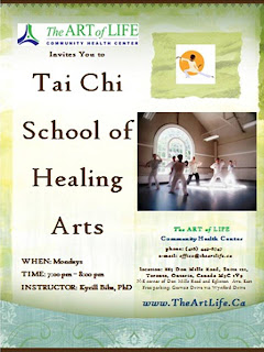 School of Healing Arts, The Art of Life Community Health Centre, poster