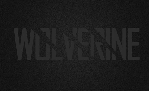 Photoshop Tutorial  : Wolverine Text Effect
