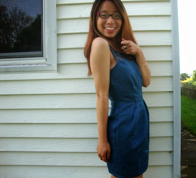 Blue Lace Dress OOTD