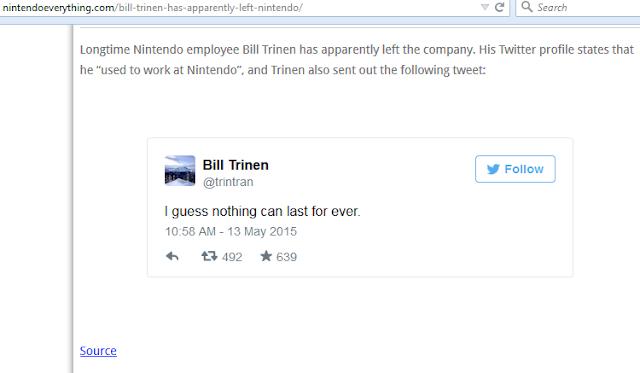 Nintendo Everything Bill Trinen shoddy reporting left Nintendo
