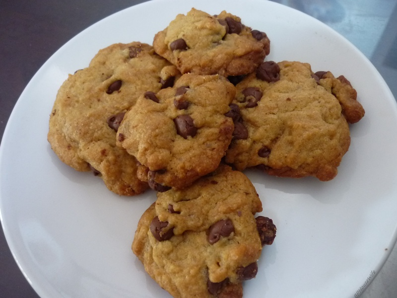 fat chewy chocolate chip cookie these cookies are big fat and chewy ...