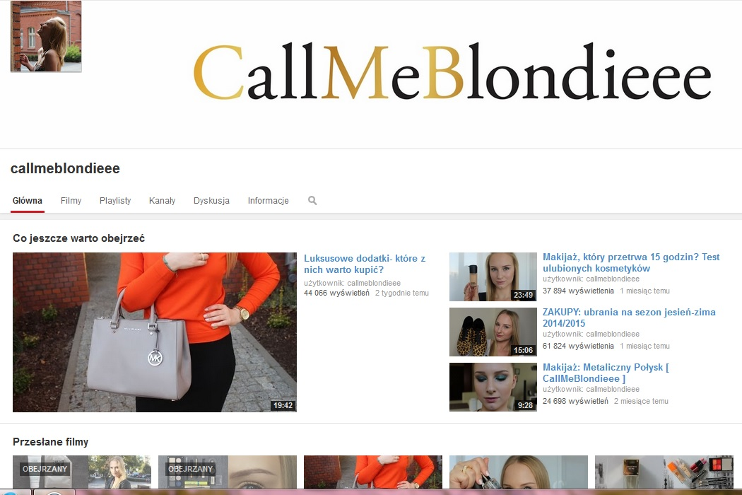 https://www.youtube.com/user/callmeblondieee