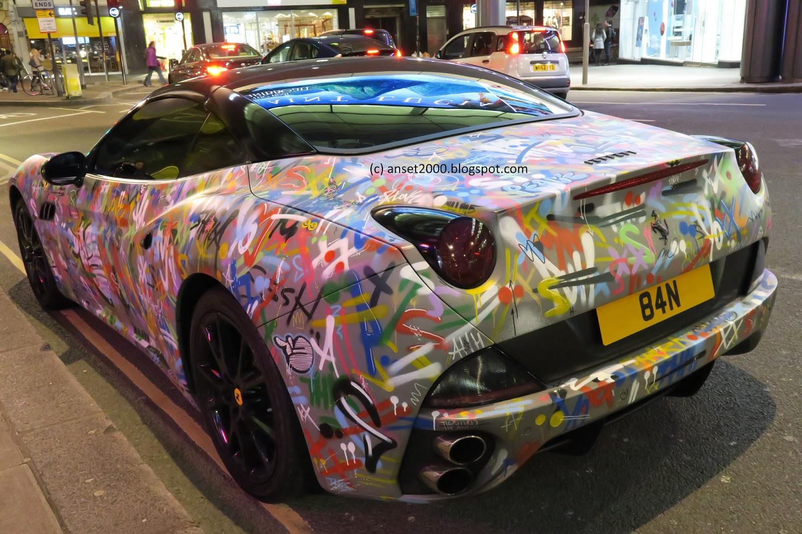 Ferrari California With Graffiti Wrap Seen In London Anset2000 Blog