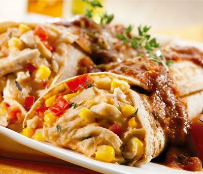 Panqueca de frango e milho light