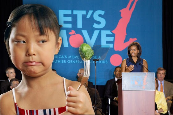 One Mil Kids Stop School Lunch Due To Michelle Obama's Standards --What's next, waterboard kids with tomato juice?