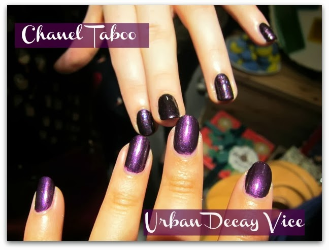 Chanel Taboo and Urban Decay Vice Nail Colour