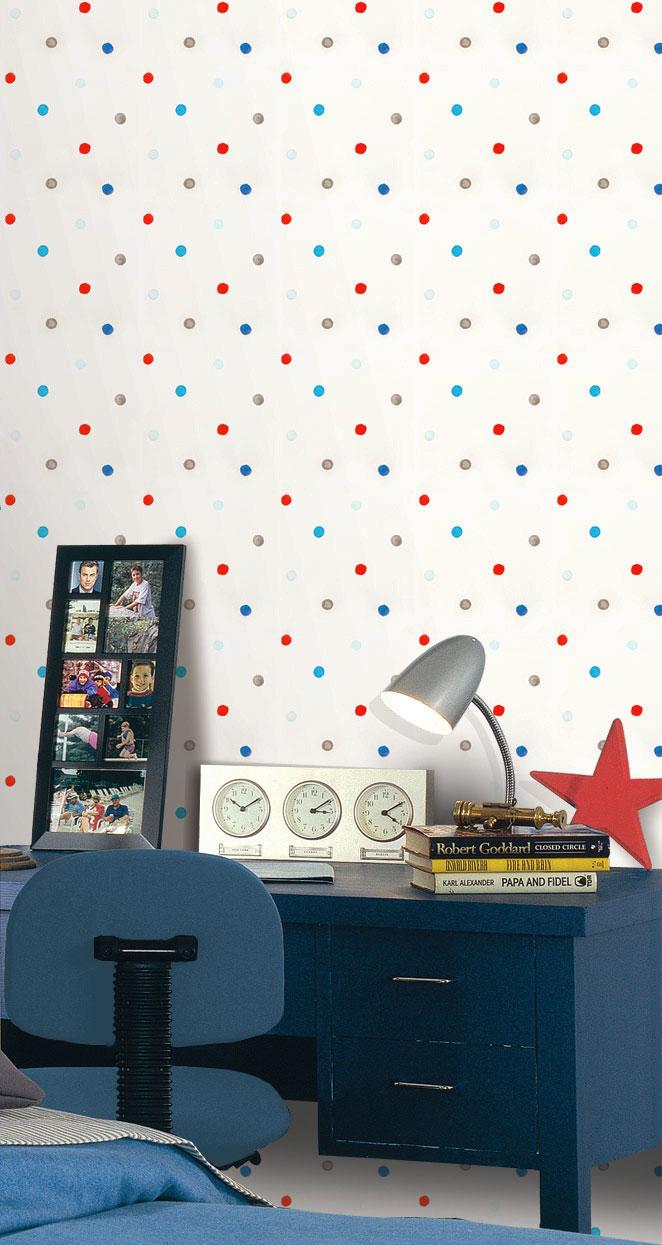 Papel pintado papel pintado infantil hoopla for Papel pintado topos