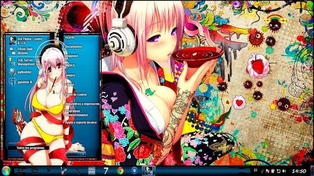 Super Sonico [ Theme Windows 7 ] 1