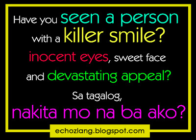 Have you seen a person with a killer smile, innocent smile, sweet face and devastating appeal