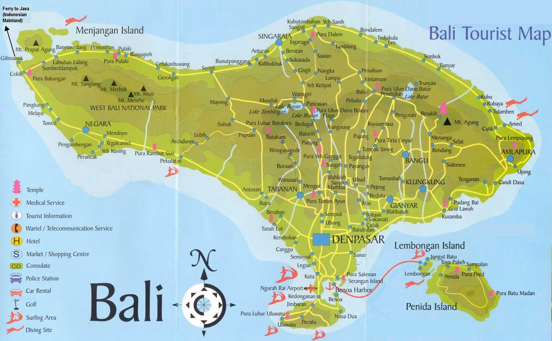 Pulau Bali Map Bali Map