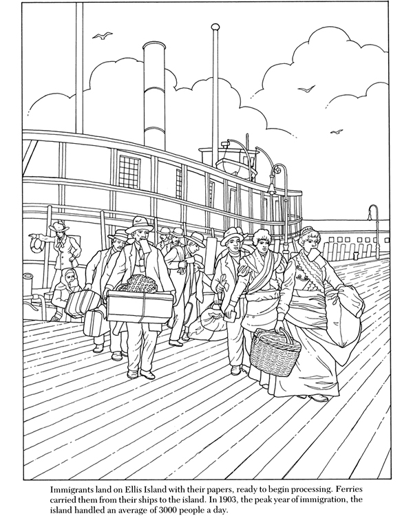 free new york coloring pages - photo#21