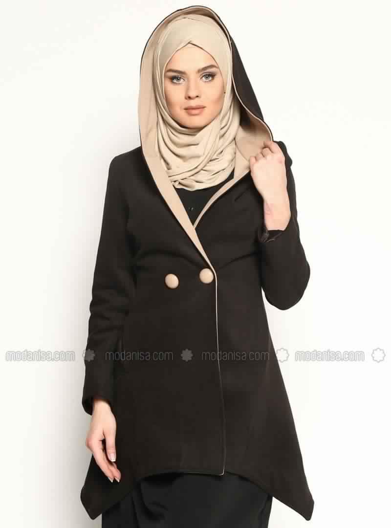 hijab style manteau chic et moderne pour femme voil e. Black Bedroom Furniture Sets. Home Design Ideas